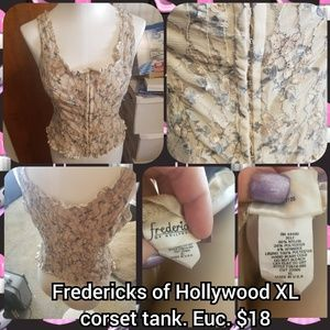 Fredericks of Hollywood size Xl lace corset tank